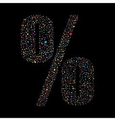 Sign percent logotype design vector image
