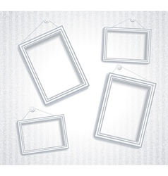 3d empty frame on the wall Vintage background vector image