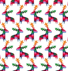 christmas seamless pattern with colorful deers vector image vector image