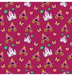 Little Girl Princess Seamless Background vector image