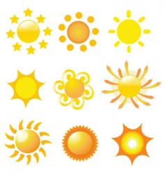 Sunshine icons vector