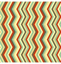 Zigzag stripes in retro colours seamless pattern vector image vector image