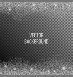 abstract background of random falling silver dots vector image vector image