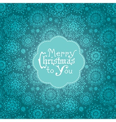Beautiful card with flowers and Christmas vector image