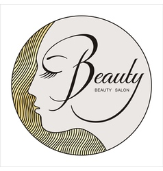 beauty face 2 vector image vector image