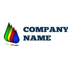 Colorful drops creative idea logo design template vector image