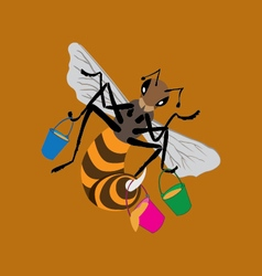 insect bee vector image vector image