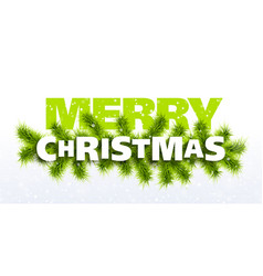 merry christmas greeting card vector image