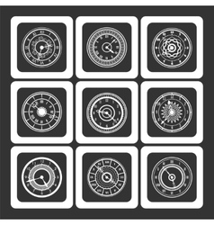 Monochromic ornamental watches vector image