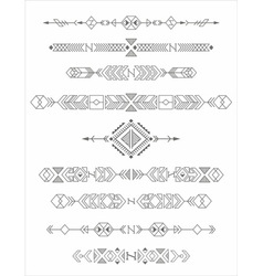 vintage tribal elements vector image vector image