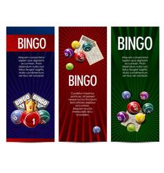 bingo lottery lotto game banners set vector image