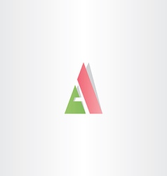 green red logotype letter a logo triangle icon vector image