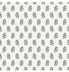 Hand drawn autumn seamless pattern made of berries vector image vector image
