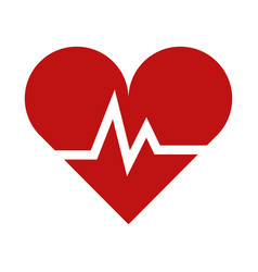 Heart beating icon vector