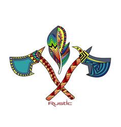indian national tomahawks vector image