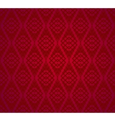 Seamless Red Retro Pattern Background vector image vector image