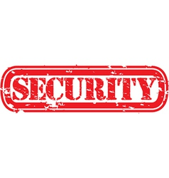 Security stamp vector image vector image
