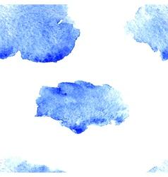 Watercolor cloud pattern vector image
