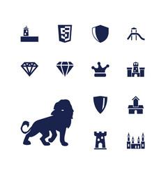 13 royal icons vector