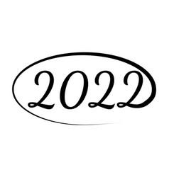 2022 happy new year tiger design vector image