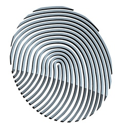 3d abstract fingerprint vector image