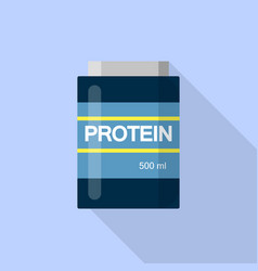 500 ml protein icon flat style vector