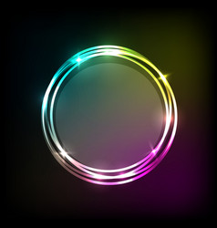 Abstract background with colorful neon circles vector