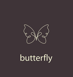 abstract beautiful butterfly vector image
