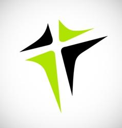 Abstract cross logo vector
