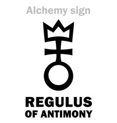 Alchemy regulus of antimony regulus antimonii vector