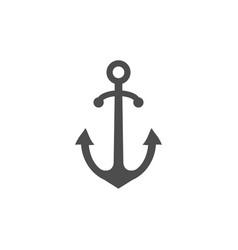 anchor icon marine anchor vector image