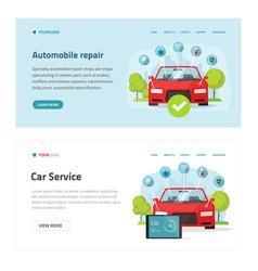automobile diagnostic or car test service web site vector image