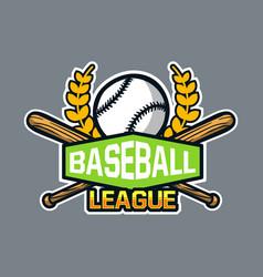 Baseball badge logo emblem template league vector