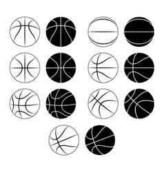 Basketball ball set vector