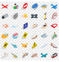 big transport icons set isometric style vector image