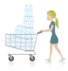 Bottled water consumption vector