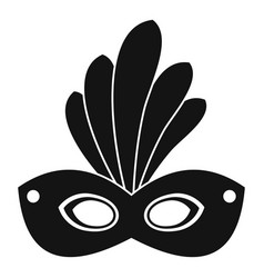 brazil carnival mask icon simple style vector image