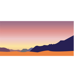 bright mountains vector image