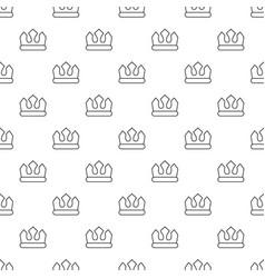 bronze crown pattern seamless vector image