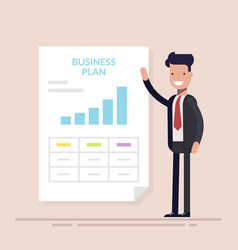 businessman or manager making presentation of vector image vector image