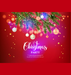 christmas beautuful decor vector image