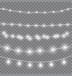 Christmas white lights vector