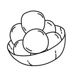 Cilok icon doodle hand drawn or outline icon style vector