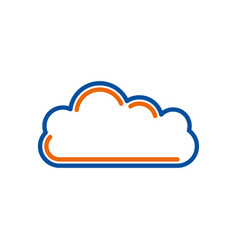 cloud computing storage data network vector image
