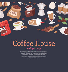 coffee house banner poster vector image