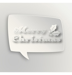 Contemporary Merry Christmas bubble vector image