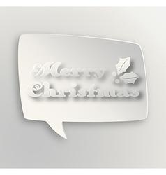 Contemporary Merry Christmas bubble vector