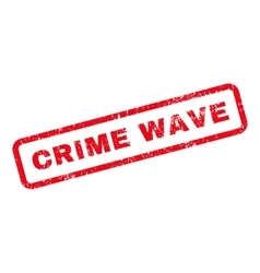 Crime wave text rubber stamp vector
