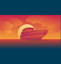 cruises sail during sunset image and background vector image