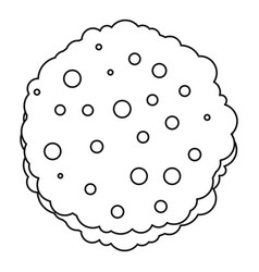 cutlets icon outline vector image